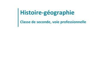 thumbnail of C.S.P. (2019) – Projet de programme – Seconde professionnelle – Histoire-géographie